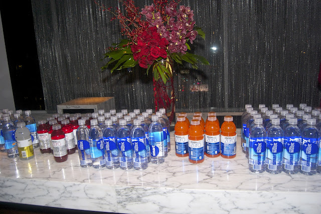 SmartWater, Honest Ade and Vitamin Zero were sponsors of the  artist reception