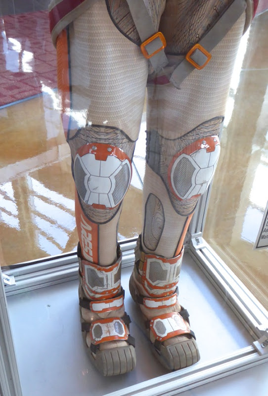 The Martian spacesuit legs costume detail