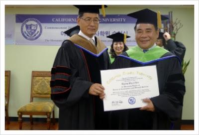 Honorary doctorate degree, California Trinity University