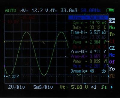 Меню карманного осциллографа DSO Nano 201