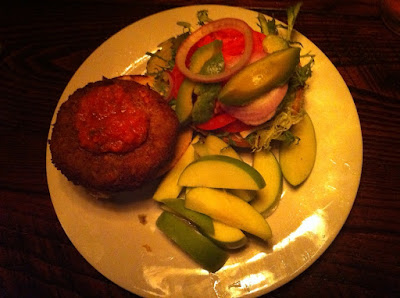 The Public House dish: Chick Pea Burger