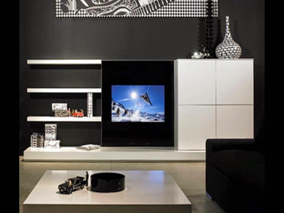 black and white tv cabinet design ideas