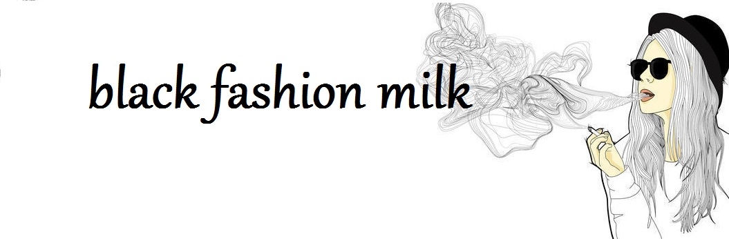 black fashion milk
