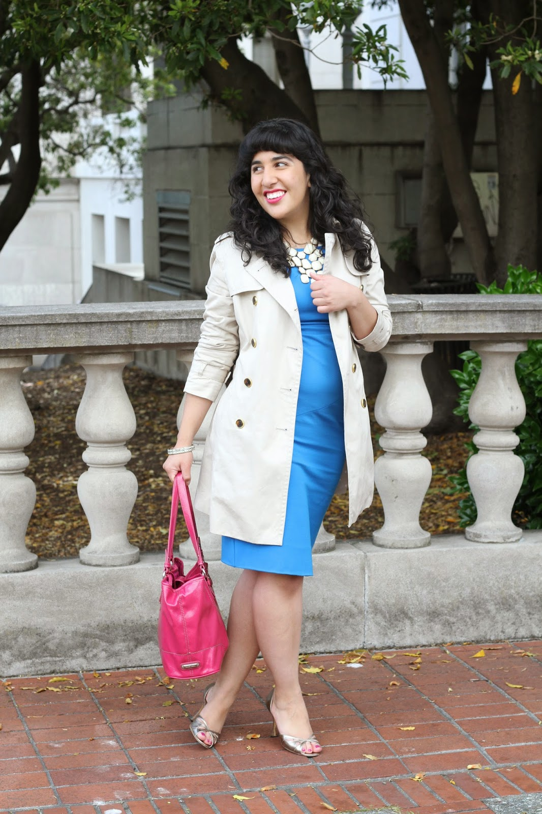 Trench and Shift Dress