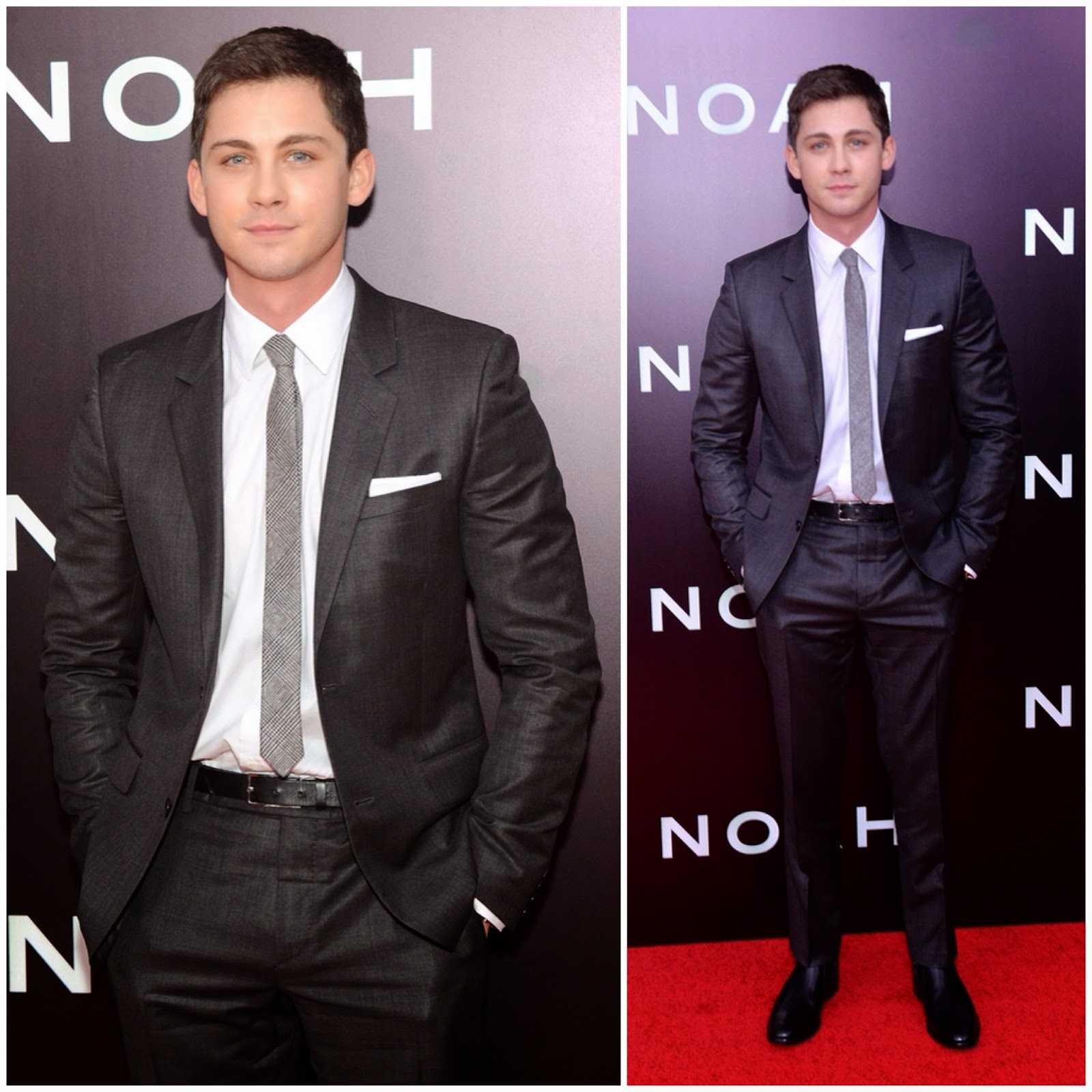 Logan Lerman in Saint Laurent - 'Noah' Premiere, New York City