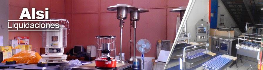 Alsi liquidaciones: Estufas eléctricas, gas, parafina y láser