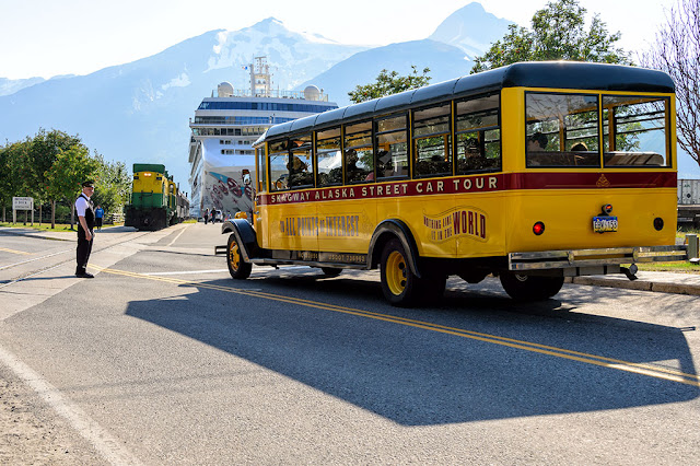 Skagway, Alaska by boat, train, bus