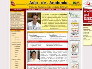 """Site """"Aula de Anatomia"""""""