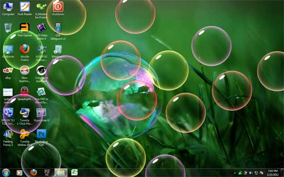 tema gelembung windows 7