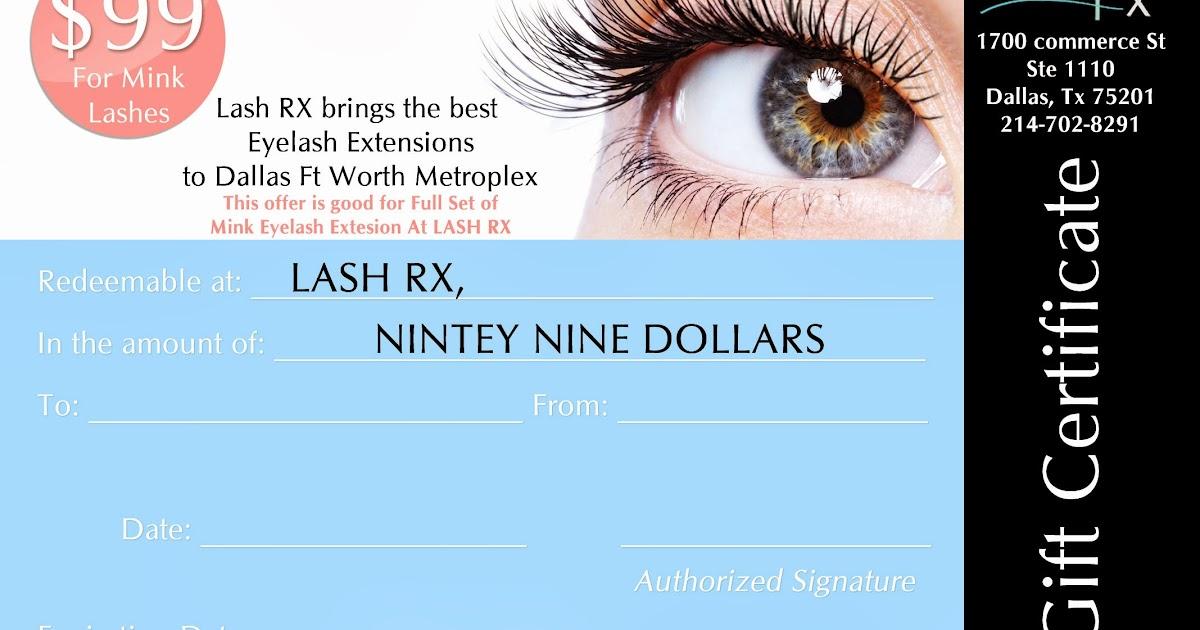 Lash Rx Lash Rx Eyelash Extensions Gift Certificates Available Now