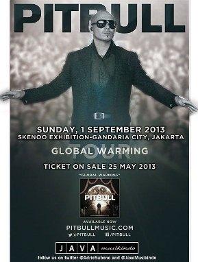 Konser Pitbull Di Indonesia 2013