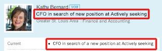 LinkedIn headline, let LinkedIn connections know you are job seeking,