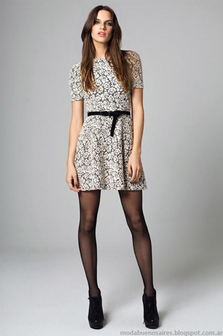 Vestidos cortos otoño invierno 2014 colección de moda Mab.