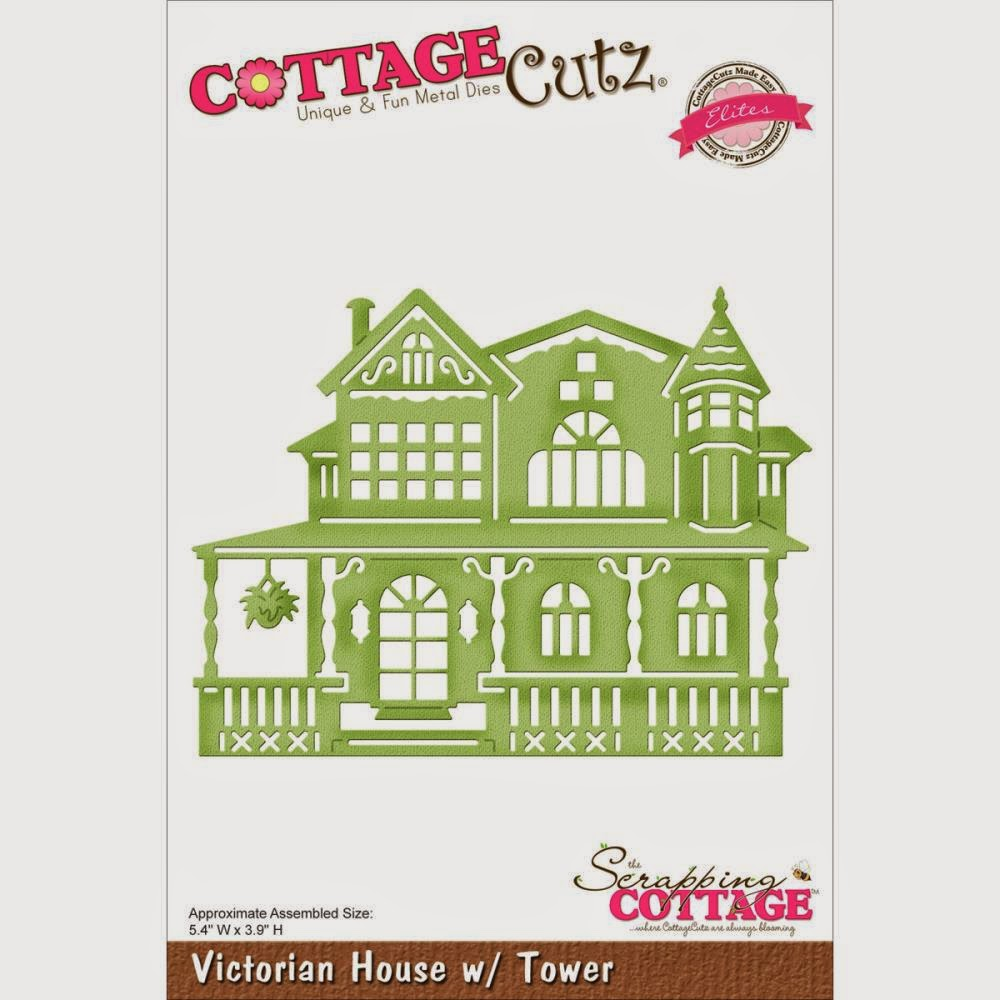 Victorian house with tower die from COTTAGECUTZ