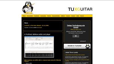 TuxGuitar, Music