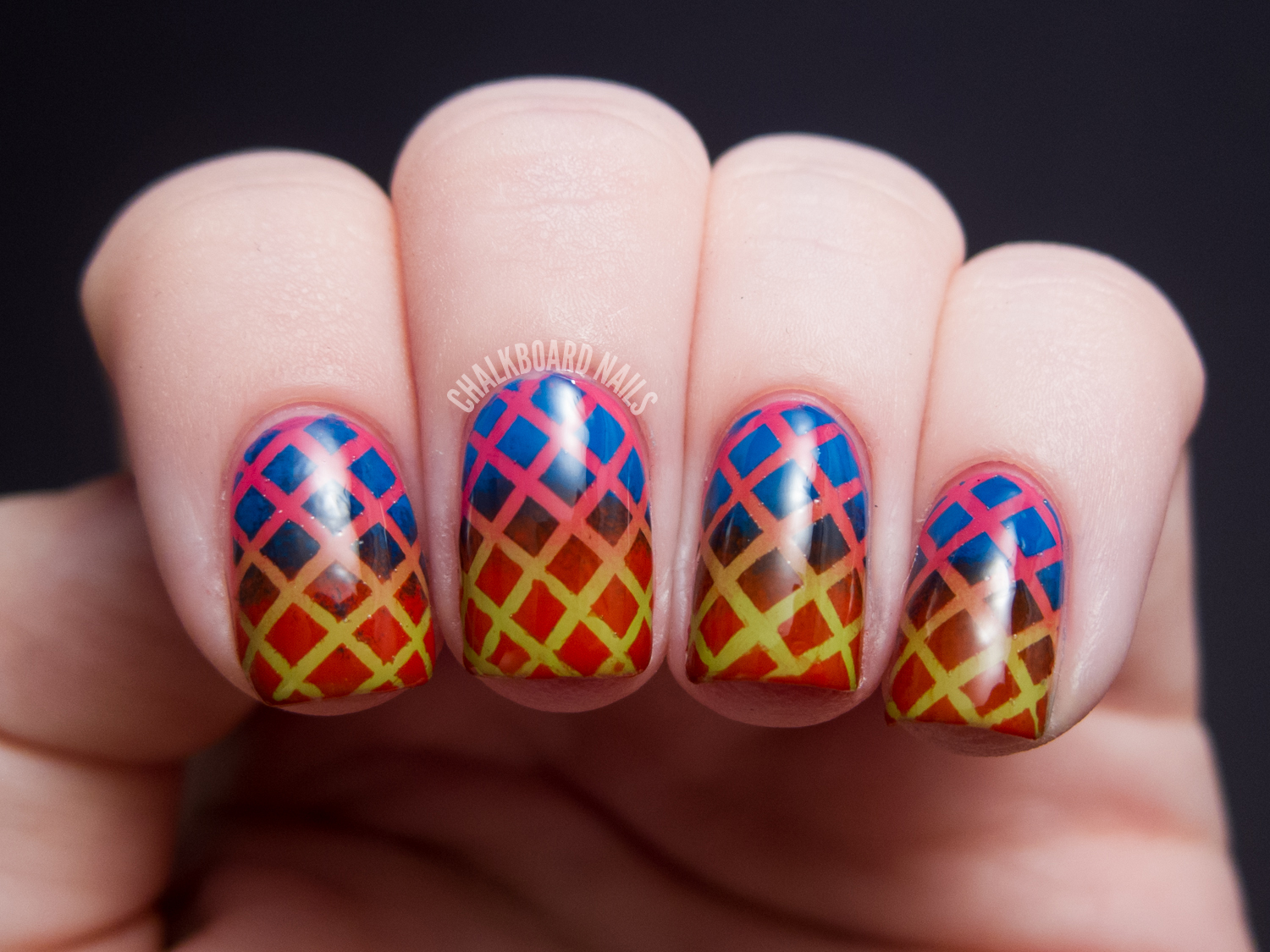 Double Gradient Mesh China Glaze Cirque Du Soleil Nail Art