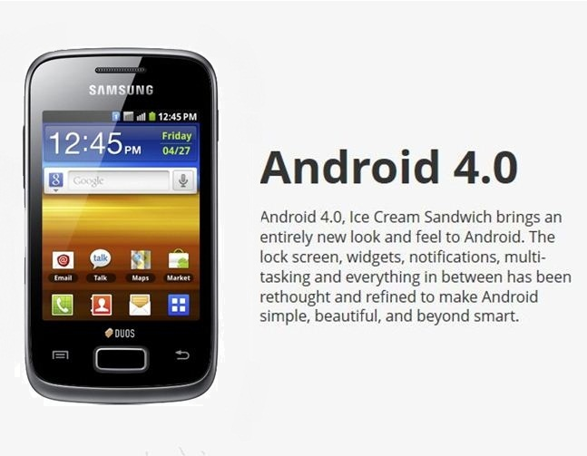Upgrade: Samsung Galaxy Y Duos Official ICS Android 4.0.4 Update Rolls