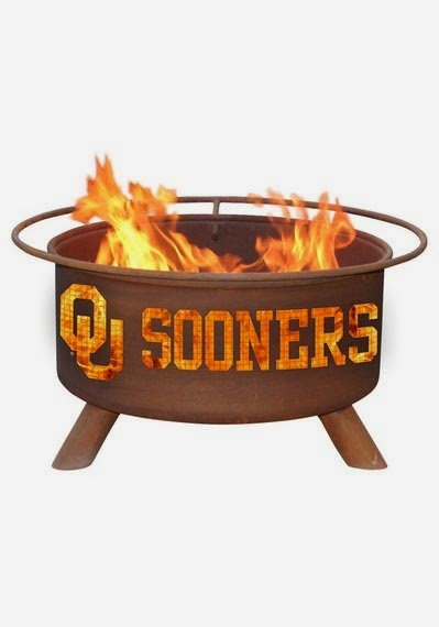 Oklahoma Sooners NCAA Outdoor Fire Pit