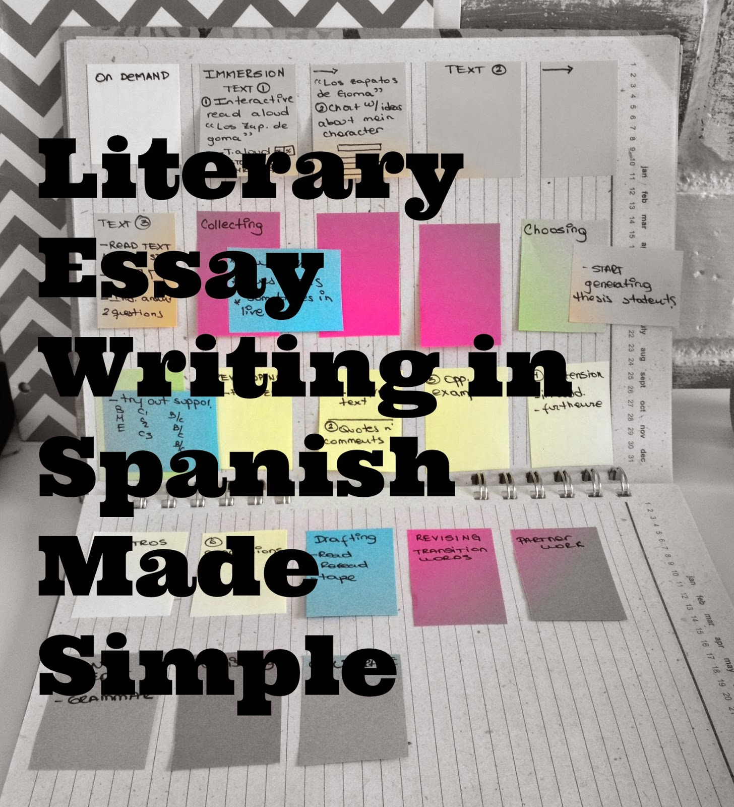 parts of literary essay