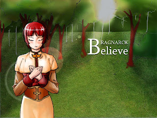 Ragnarok: Believe Visual Novel Menu