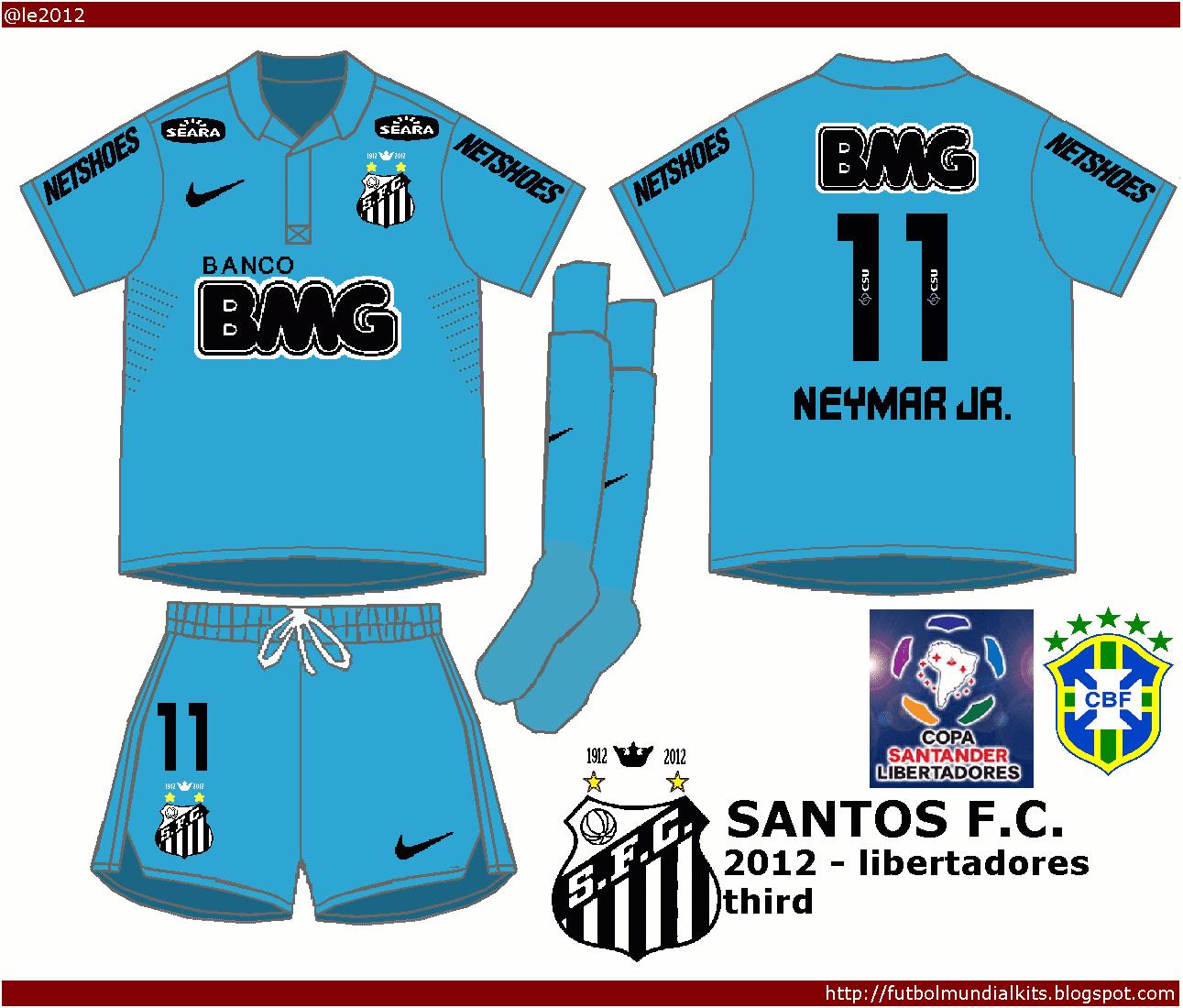 Fútbol Mundial Kits - Uruguay: Santos F. C. 2012 - (