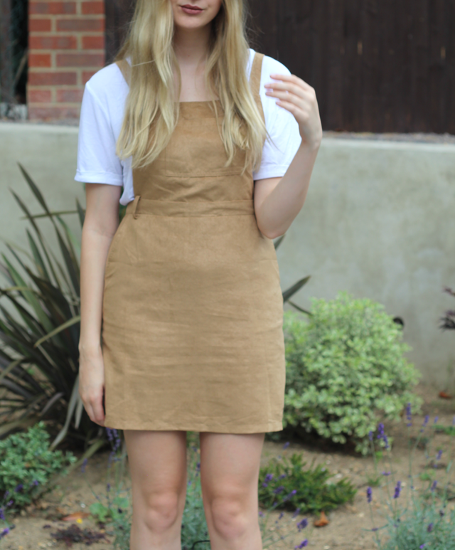 suede pinafore booho