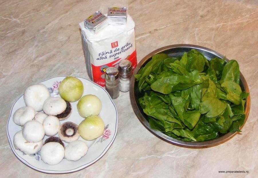 ingrediente rulada de post cu spanac ceapa si ciuperci retete si preparate culinare de mancare de post,