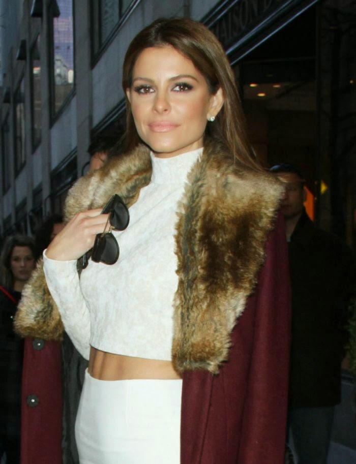 I guess we should just be grateful if Maria Menounos is very much in style.  Went into the Meredith Vieira studio at New York on Friday, January 23, 2015, the 36-year-old looked cool with her fashion style and showing her toned physique.