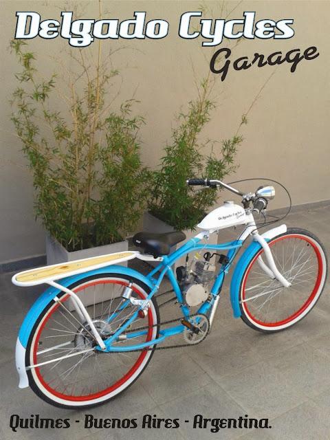 Bicicleta con motor Cruiser Surf Style.