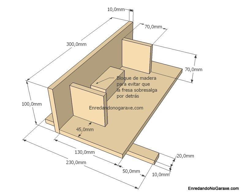 Plano de guía para cortes tipo dedo para cajas, enredandonogaraxe.com
