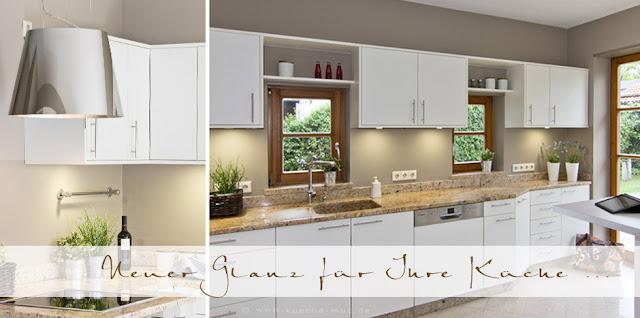 Neue Fronten, Innenauszüge, Schubläden, Apothekerschrank, Müllsystem und eine neue Dunstabzugshaube für diese Küche