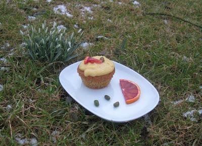 Blutorangen-Cupcakes