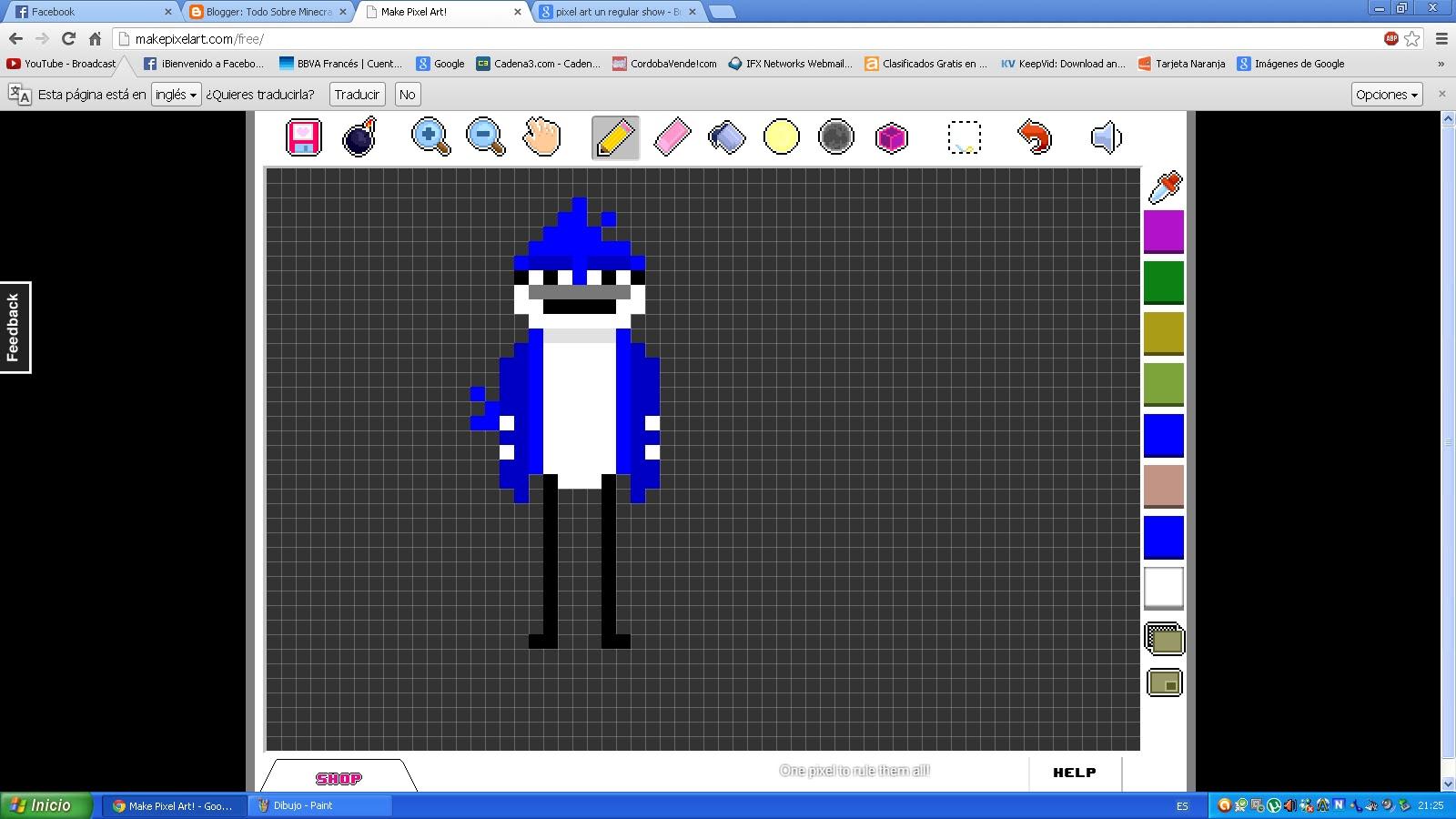 Todo Sobre Minecraft: como hacer Pixel art regular show ... Minecraft Pixel Art Regular Show