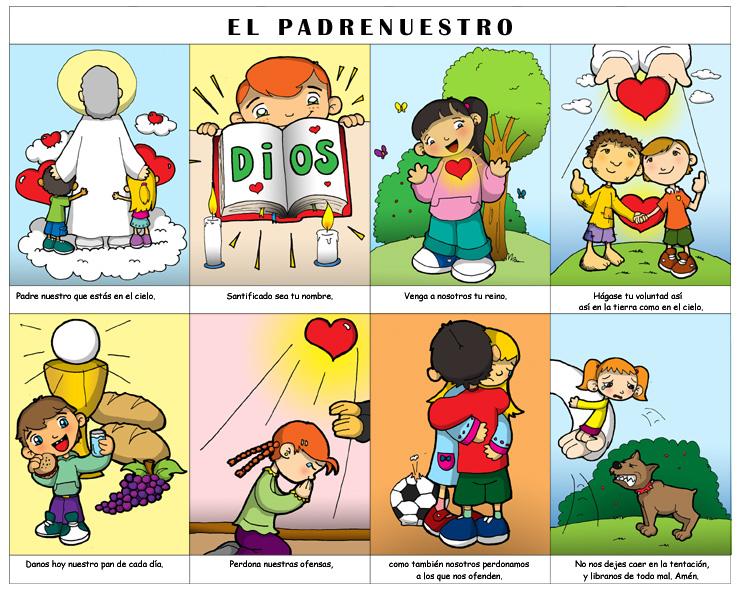 Padrenuestro Algunas Versiones Para on Jesus Para Colorear