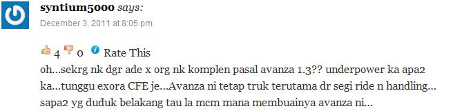 Apa kata pengguna Toyota Avanza 2