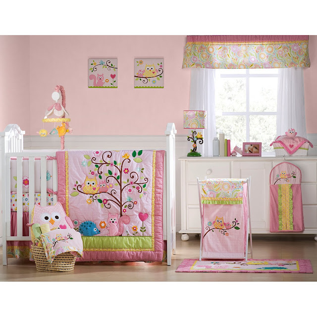 Pink Owl Crib Bedding Sets By Kidsline
