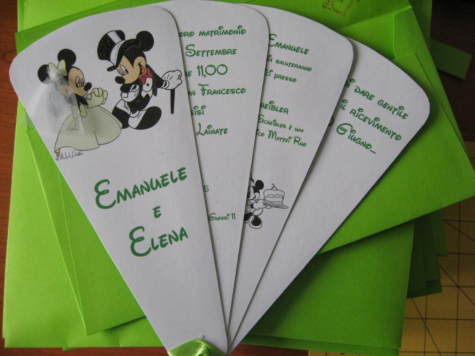Partecipazioni Matrimonio Tema Disney : Matrimonio stile disney