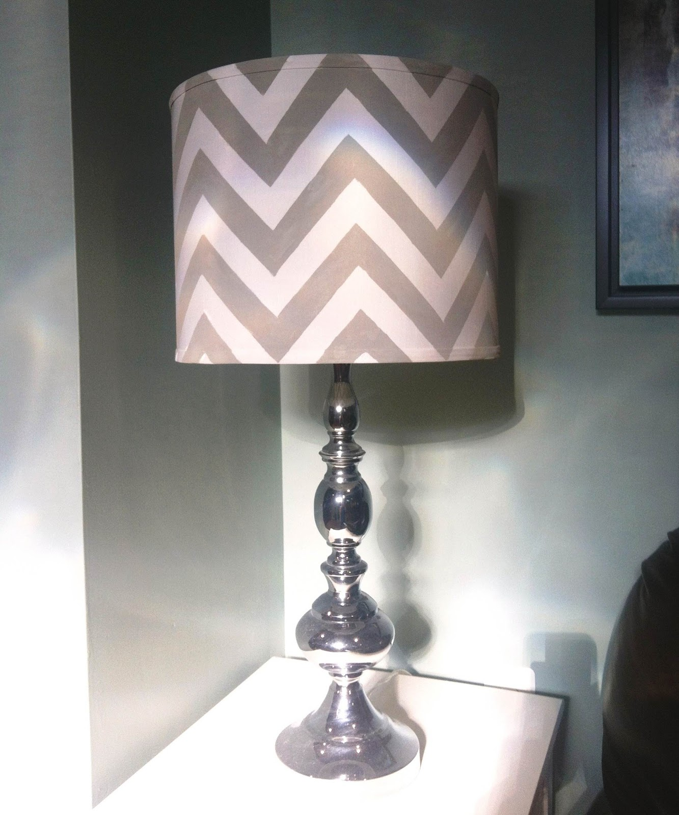 Diy chevron lamp shade six 2 eleven aloadofball Choice Image