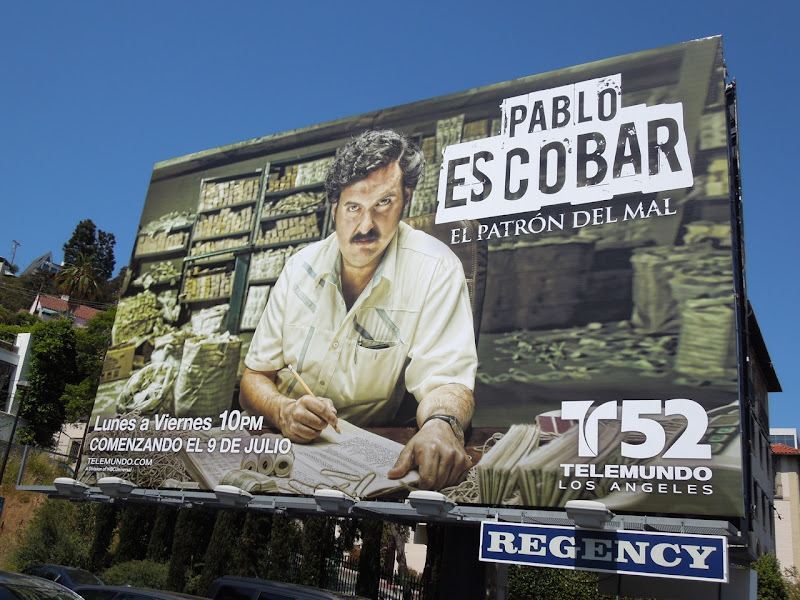 Pablo Escobar billboard