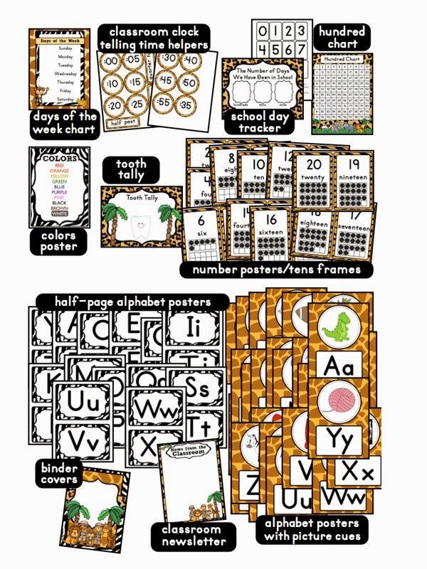 Classroom Theme Ideas For St Grade ~ Click to access and download jungle safari theme printables