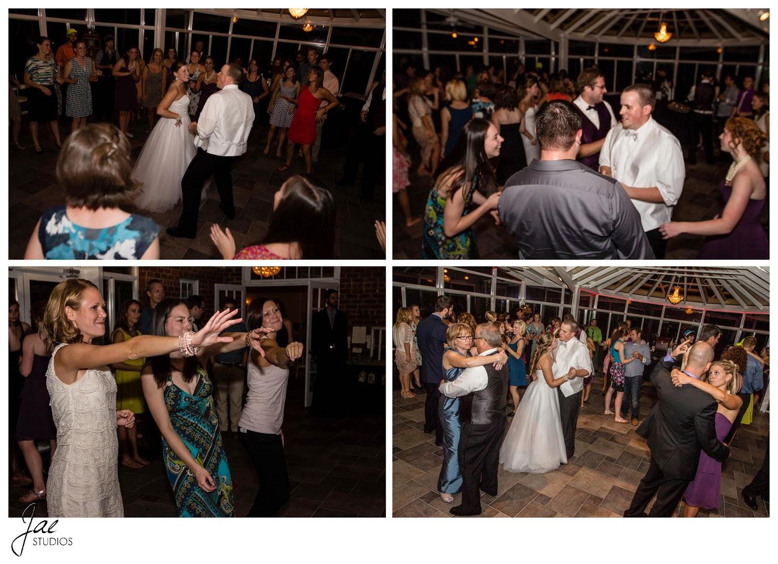 Jonathan and Julie, Bird cage, West Manor Estate, Wedding, Lynchburg, Virginia, Jae Studios, dancing, reception, wedding dress, groom, bride