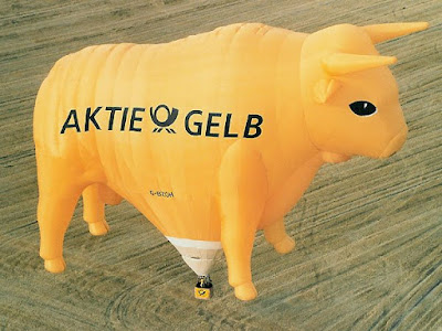 Aktie Gelb Deutsche Post Special Shape Balloon