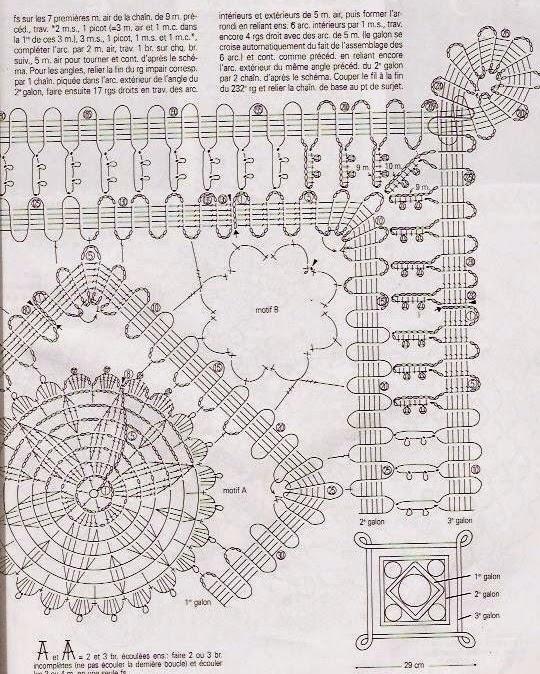 TRICO y CROCHET-madona-mía: Encaje de Brujas A crochet con patrones ...