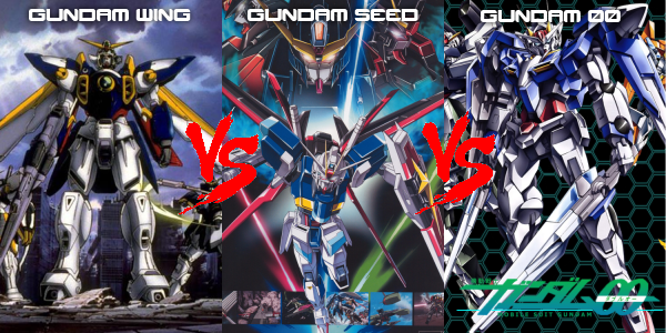 Will decide between gundam wing gundam seed or gundam 00 all series
