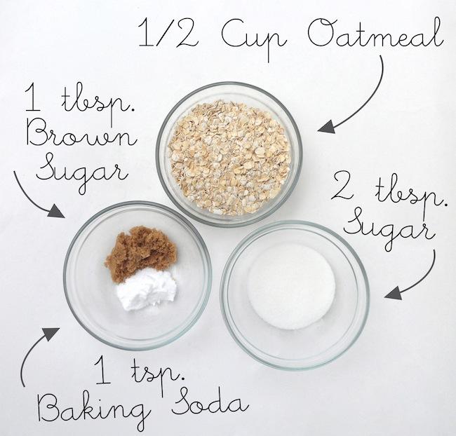 Oatmeal Coconut Cookie Scrub