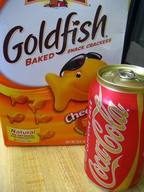 Goldfish Crackers and Caffeine Free Coke