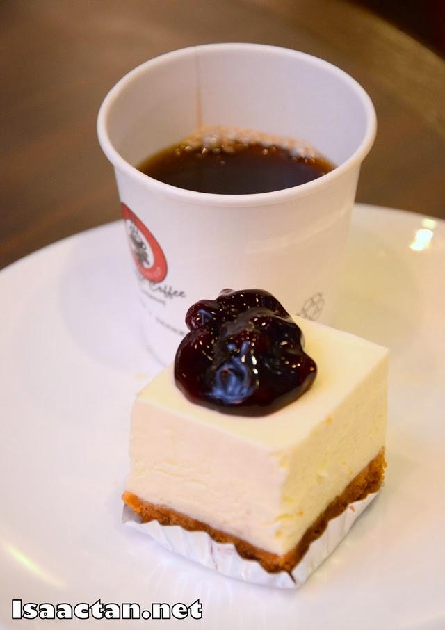 Pairing #3: Blueberry Cheesecake with Ethiopian Mocha Coffee