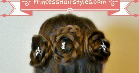 Half Up Rosette Buns Flower Girl Hairstyles Hairstyles