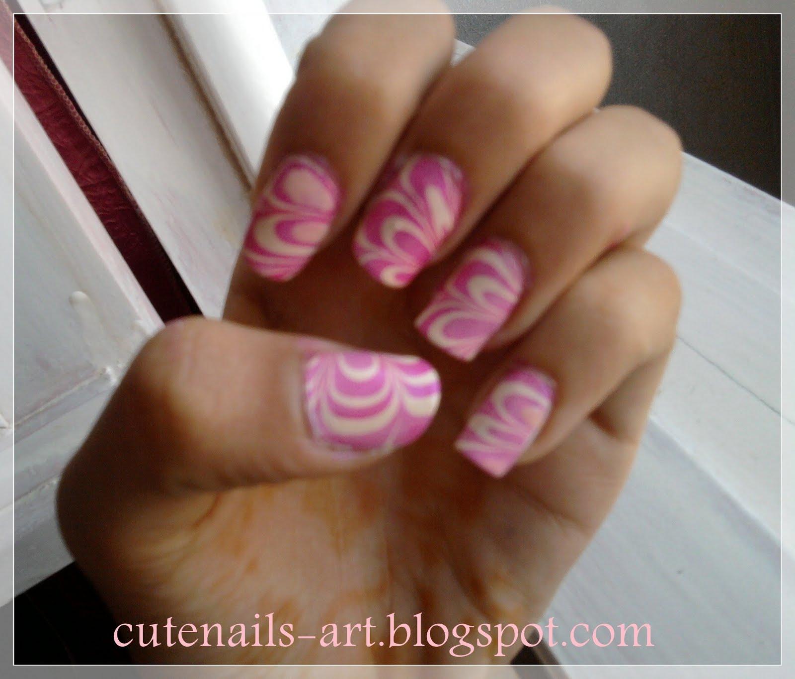 marble nail art-127