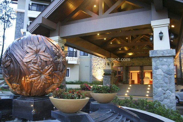 Azalea Residences bronze water ball fountain